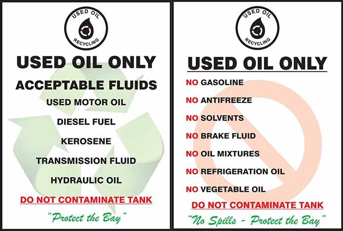 Oil and Antifreeze Recycling Graphic