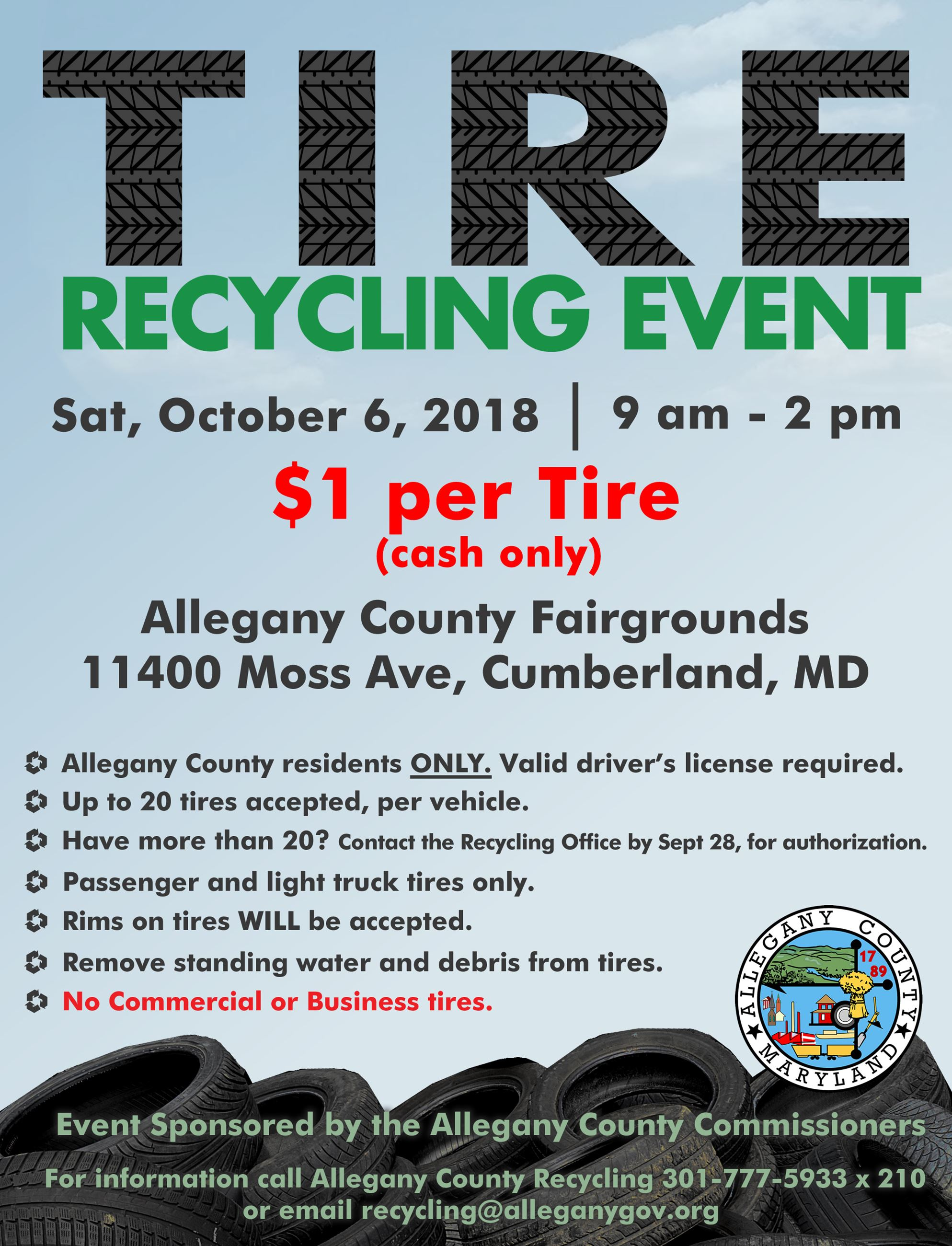 2018 Allegany Co Tire Event