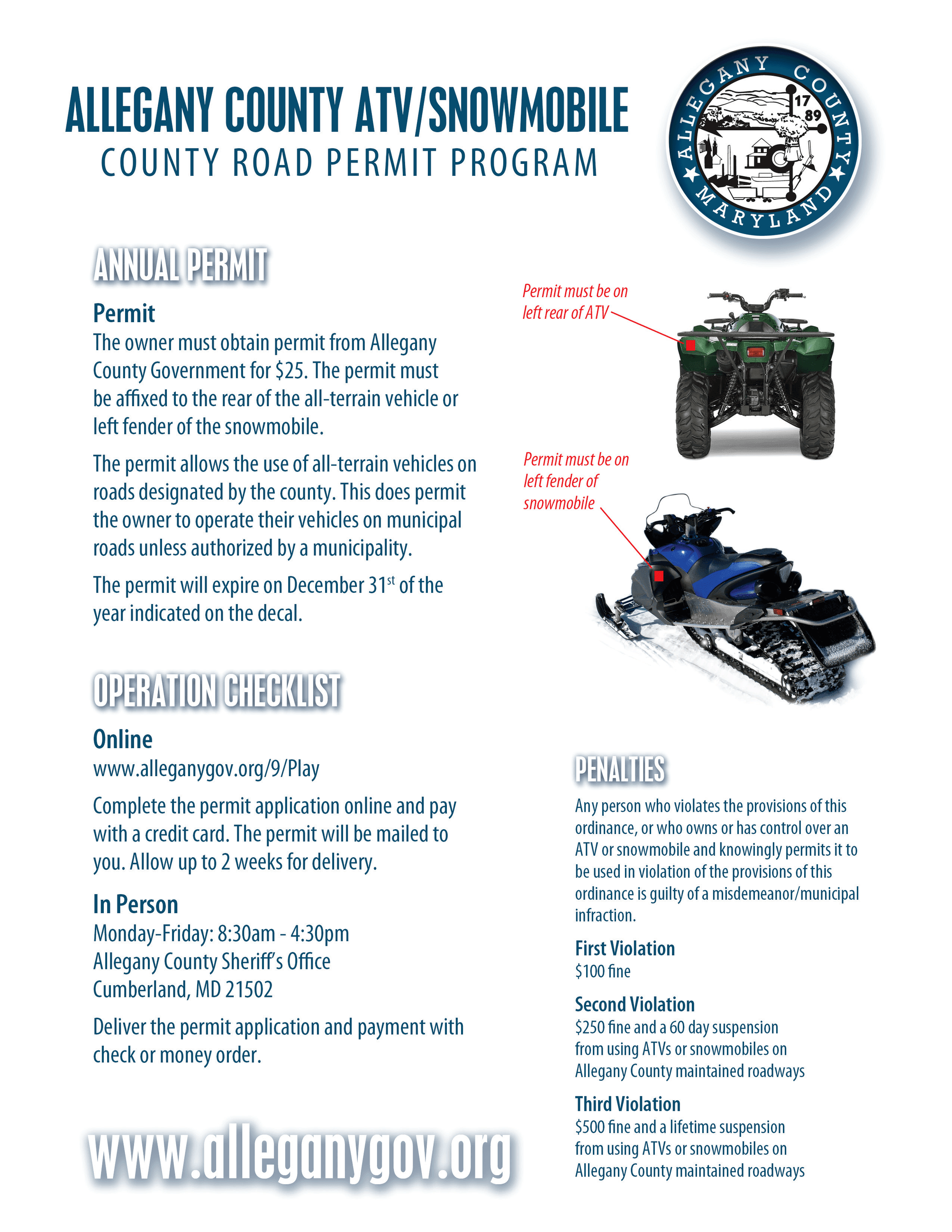 ATV Snowmobile Brochure Page 2