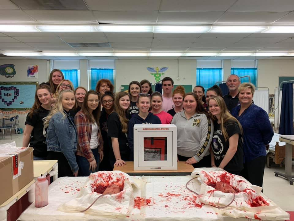 Stop the Bleed Kits Presented Photo