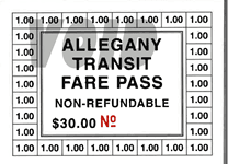 Fare Pass Punch Card Sample Image